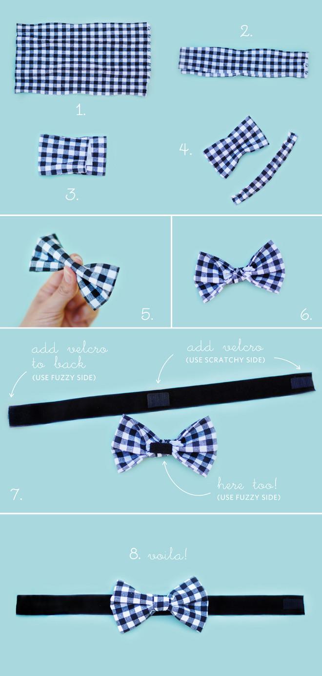 DIY Dog Bow Ties  DIY No Sew Wedding Bow Tie Chic Sprinkles