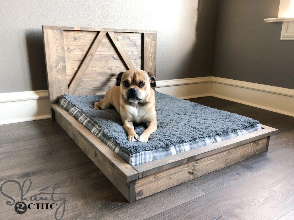 DIY Doggie Bed  DIY Farmhouse Dog Bed For Man s Best Friend Shanty 2 Chic