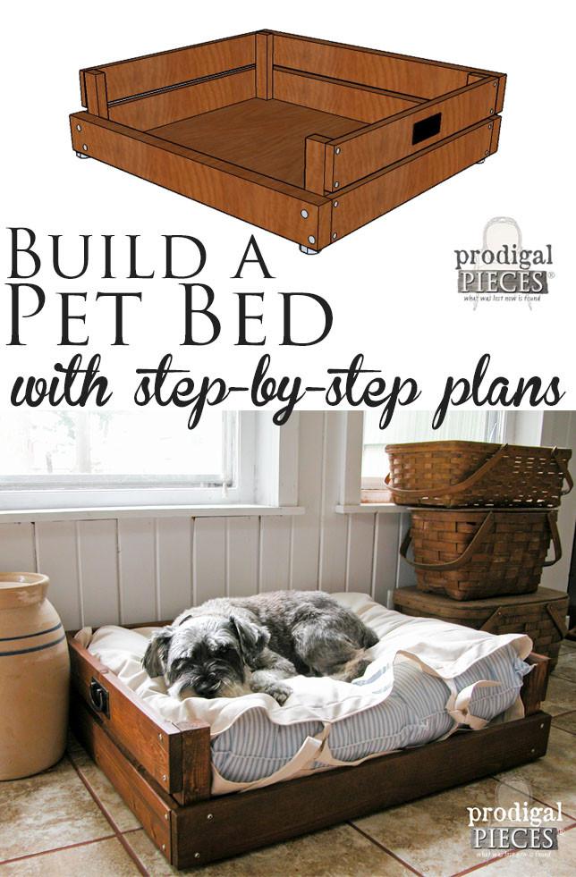 DIY Doggie Bed  Pet Bed DIY Building Plans & Tutorial Prodigal Pieces