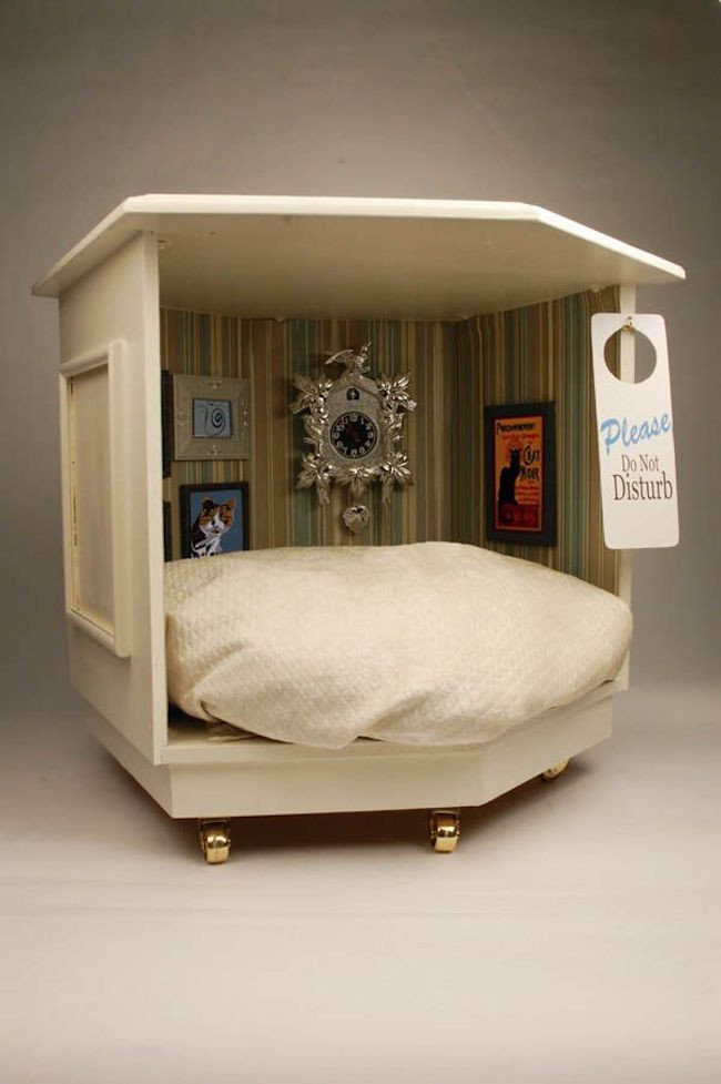 DIY Doggie Bed  15 Stylish Pet Beds That Also Serve as Great Looking Tables