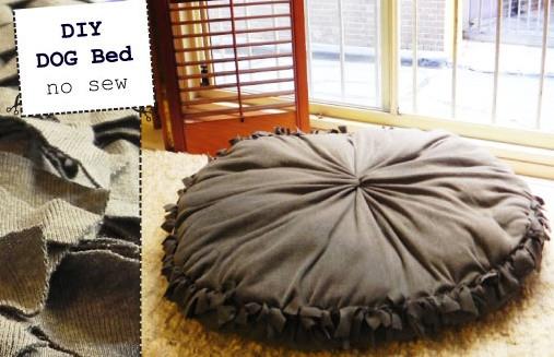 DIY Doggie Bed  DIY Dog Bed – Super Easy NO SEW – luigi & me