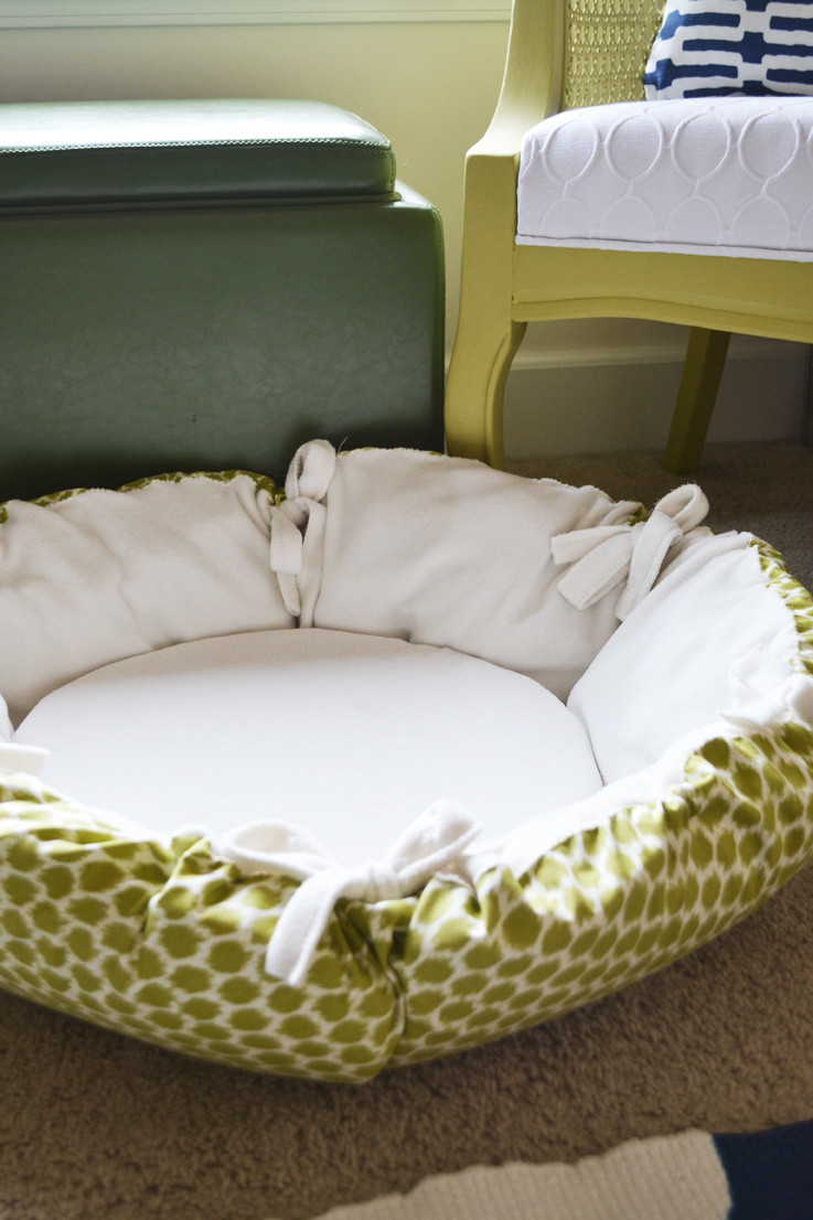 DIY Doggie Bed  sarah m dorsey designs DIY Christmas Gifts Round Pet Bed