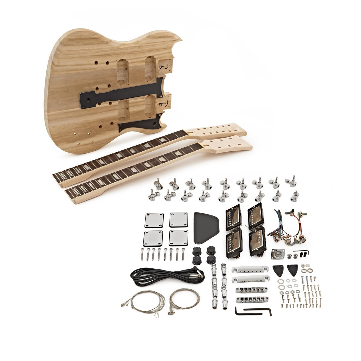 DIY Double Neck Guitar Kit  Brooklyn Double Neck Guitar DIY Kit at Gear4music