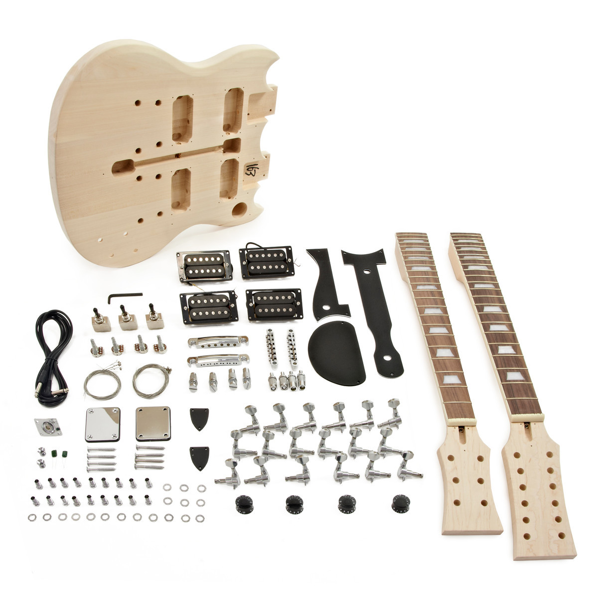 DIY Double Neck Guitar Kit  Brooklyn Double Neck Guitar DIY Kit Nearly New at