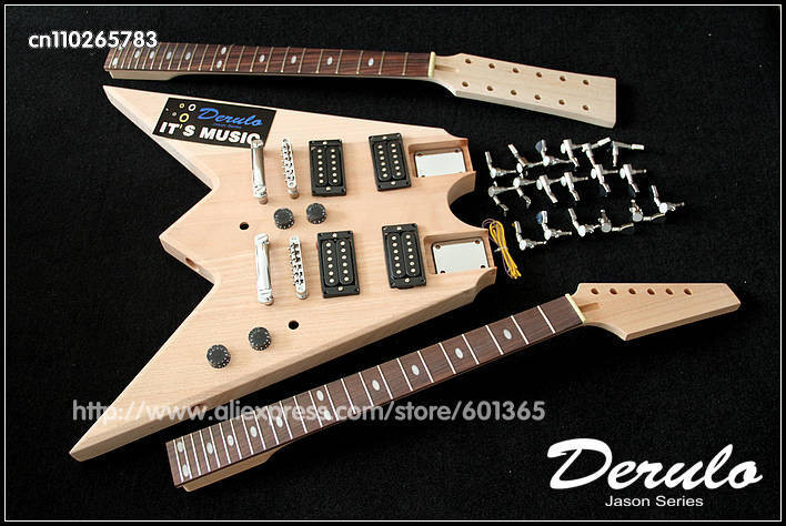 DIY Double Neck Guitar Kit  Aliexpress Buy DIY Electric Guitar Double Neck Kit