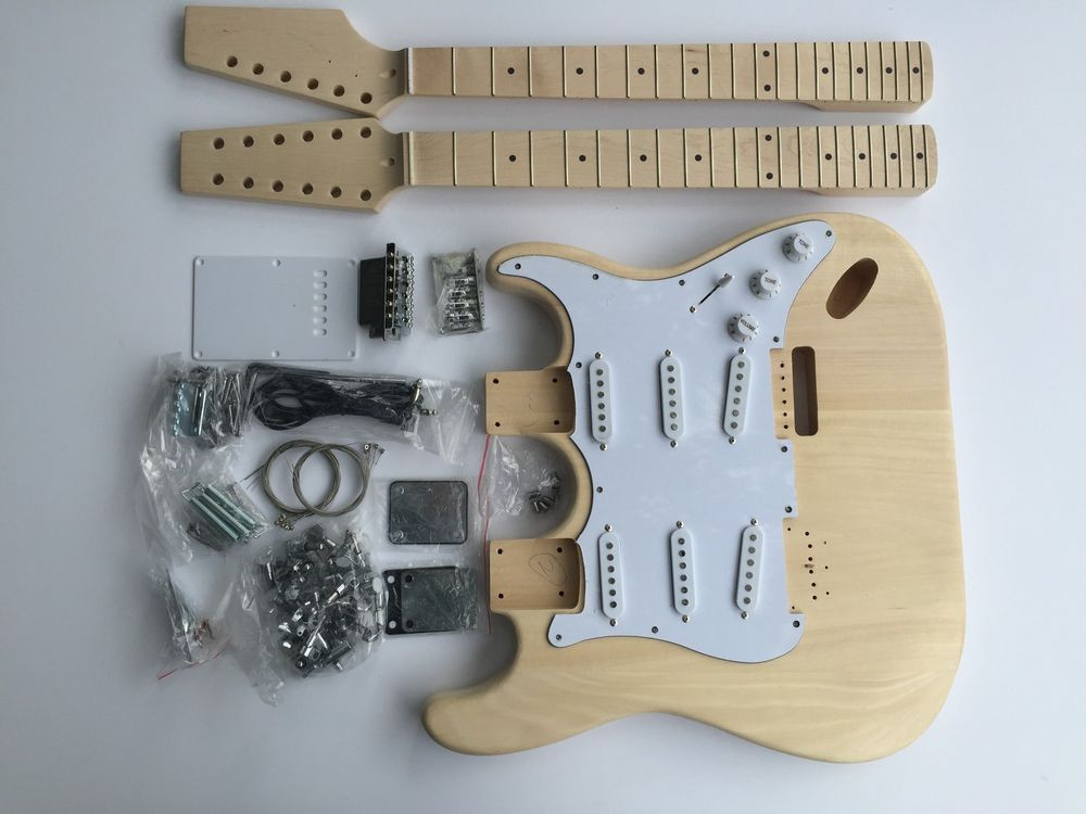 DIY Double Neck Guitar Kit  NEW DIY Electric Guitar Kit Double Neck 6 String 12