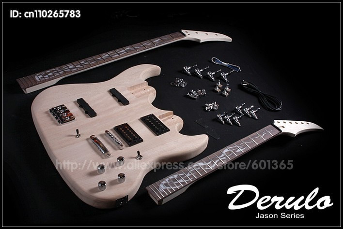 DIY Double Neck Guitar Kit  DIY Double Neck Electric Guitar and Bass Kit Solid