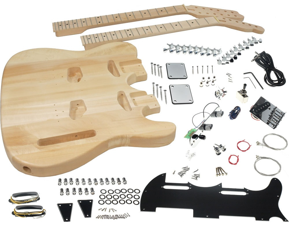 DIY Double Neck Guitar Kit  Solo TC Style Double Neck DIY Guitar Kit