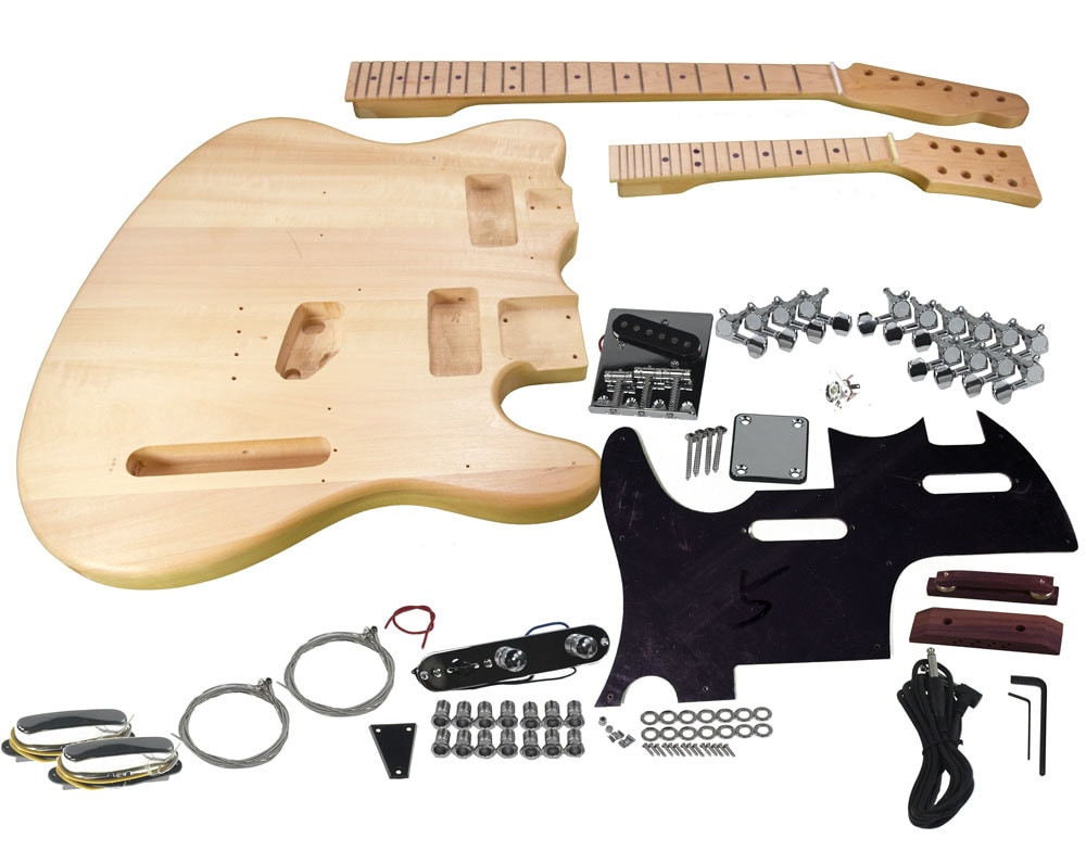 DIY Double Neck Guitar Kit  Solo TC & Mandolin Double Neck DIY Guitar Kit
