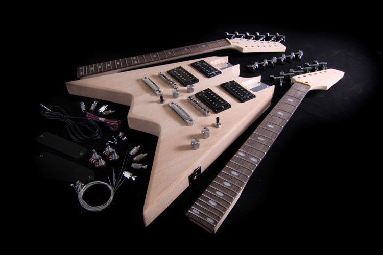 DIY Double Neck Guitar Kit  DIY Electric Guitar Double Neck Kit Project Bolt Solid