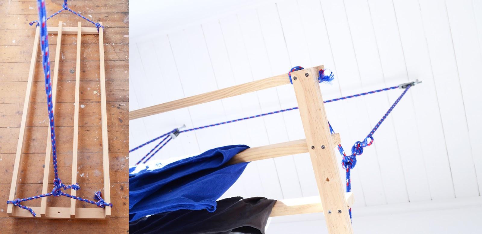 DIY Drying Rack  Red Brick Magazine DIY clothes drying rack