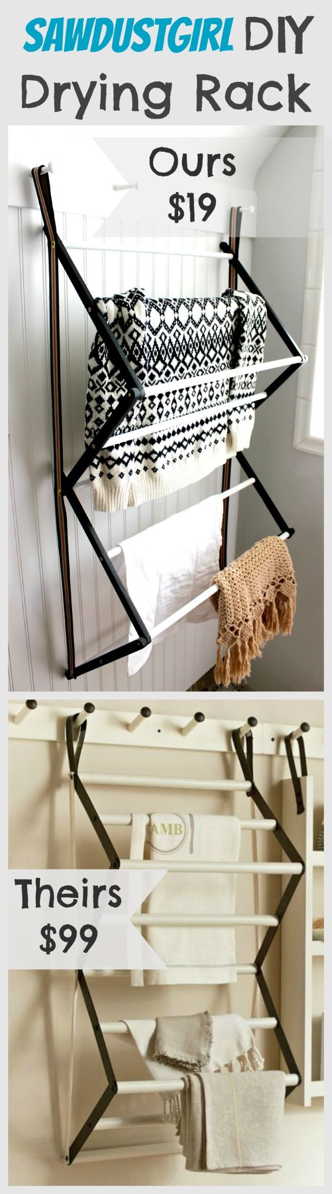 DIY Drying Rack  Diy Laundry Drying Rack WoodWorking Projects & Plans