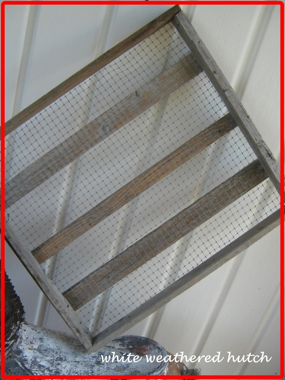 DIY Drying Rack  White Weathered Hutch DIY Drying Rack