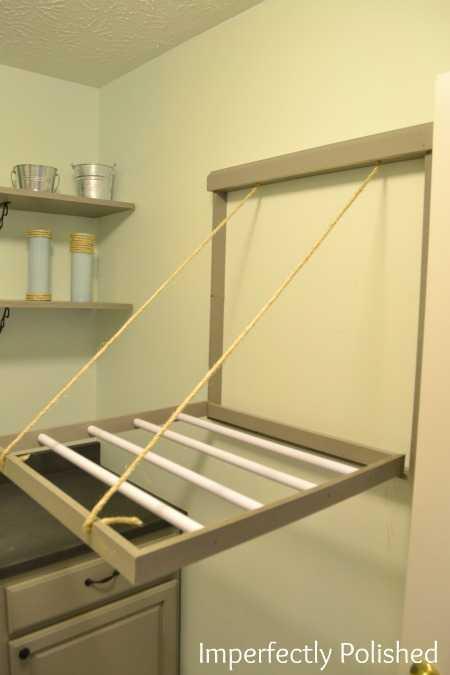 DIY Drying Rack  20 Laundry Room Organization Ideas Hacks A Blissful Nest
