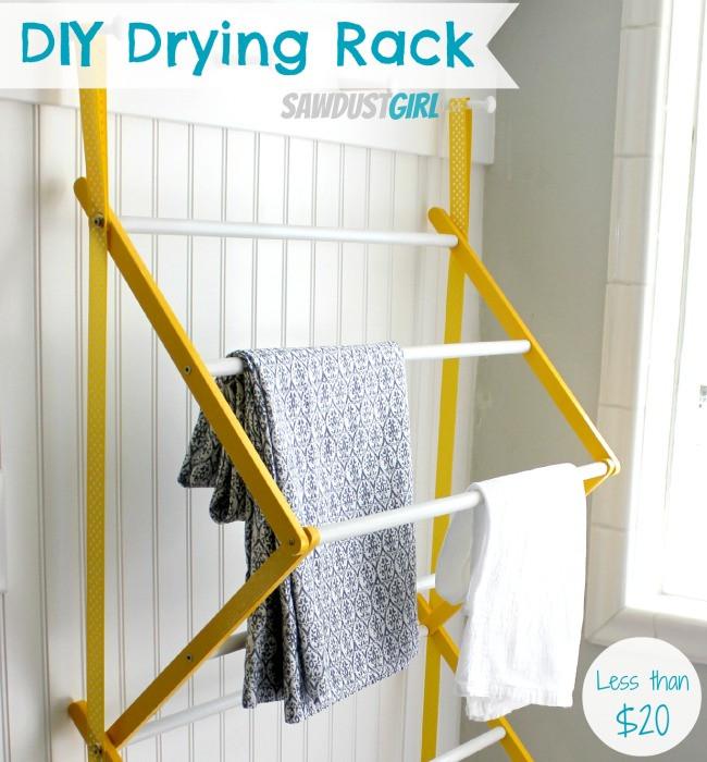 DIY Drying Rack  Hanging Drying Rack Sawdust Girl