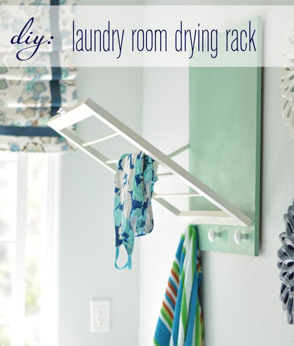 DIY Drying Rack  DIY Laundry Room Drying Rack
