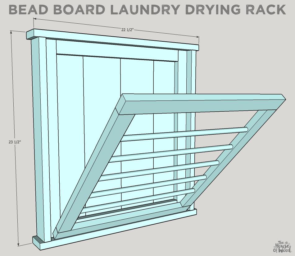 DIY Drying Rack  How To Build a DIY Ballard Designs Laundry Drying Rack