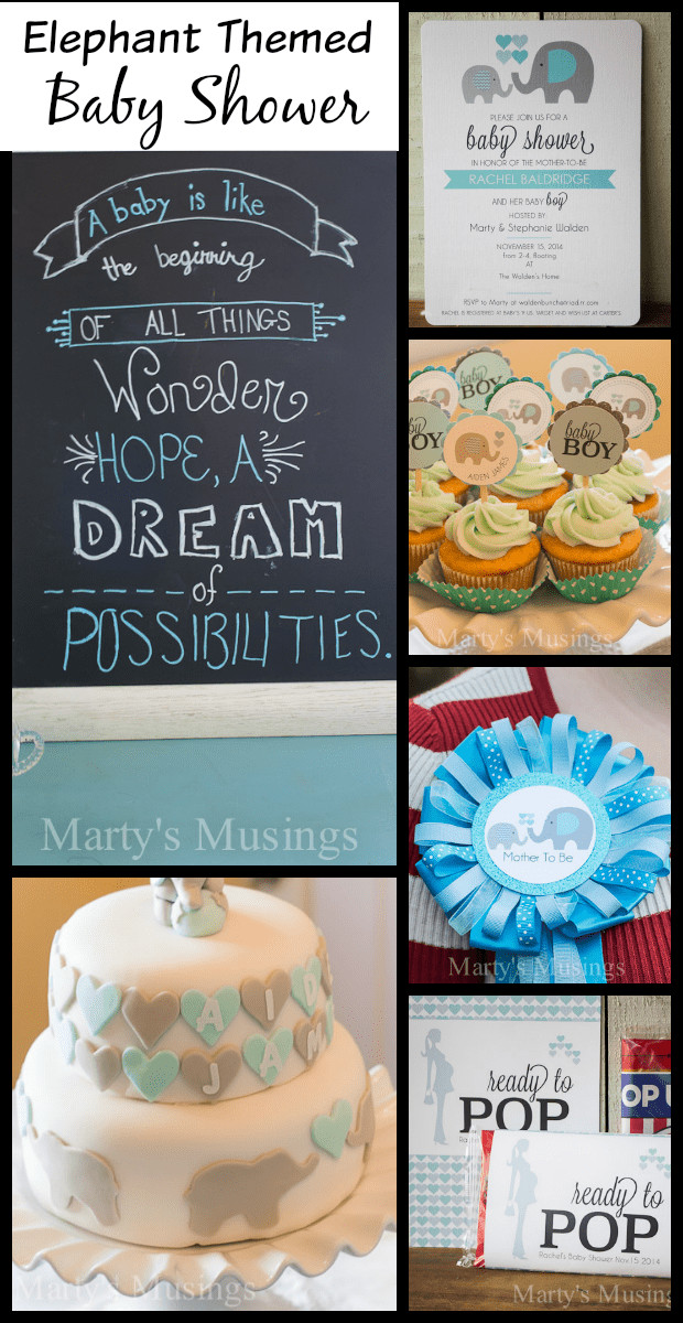 DIY Elephant Baby Shower Decorations  Elephant Themed Baby Shower invites decor food and more
