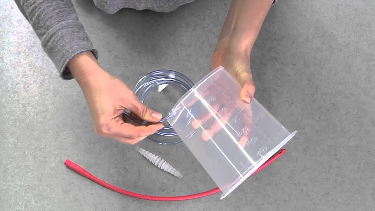 DIY Enema Kit  Enema kit set up