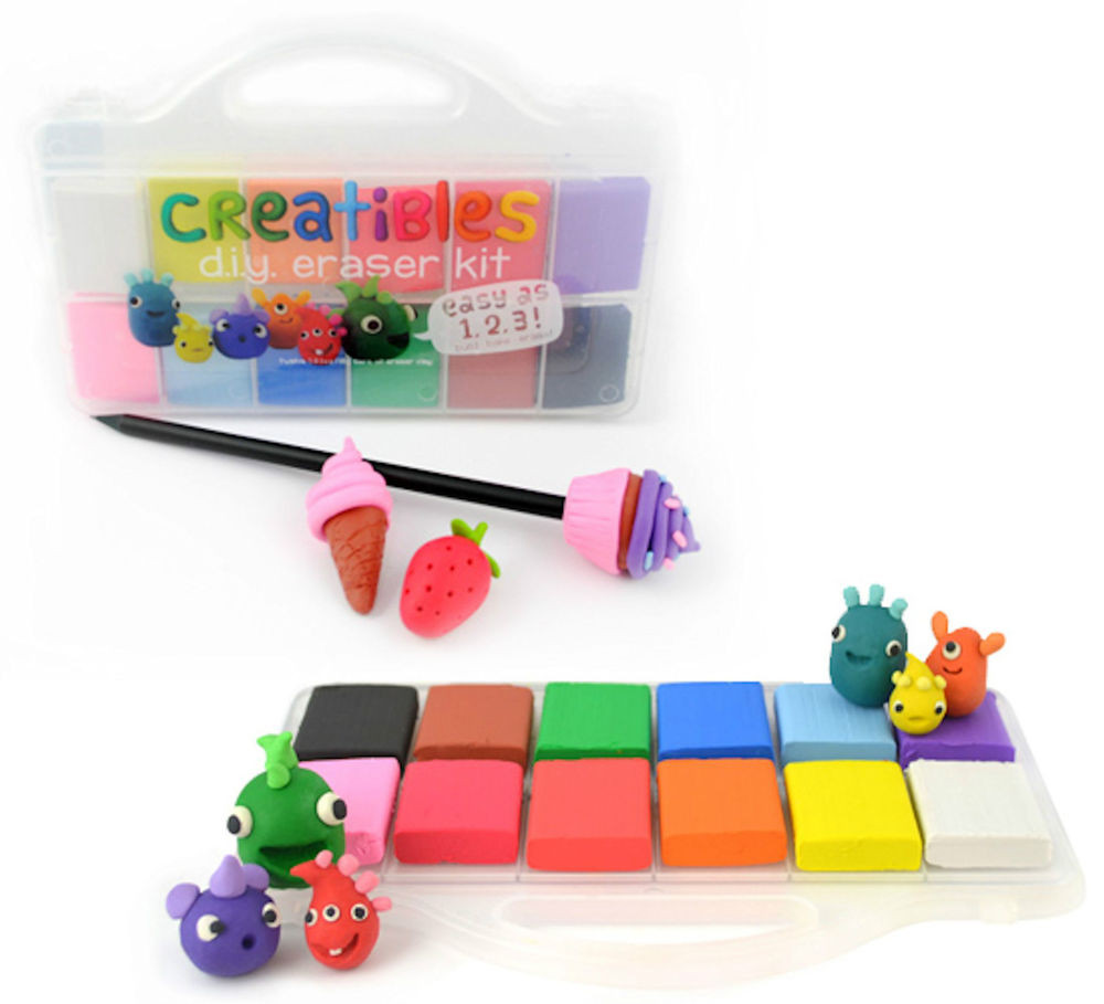 DIY Eraser Kit  Creatibles Colourful Eraser Rubber Making Kit Fun DIY
