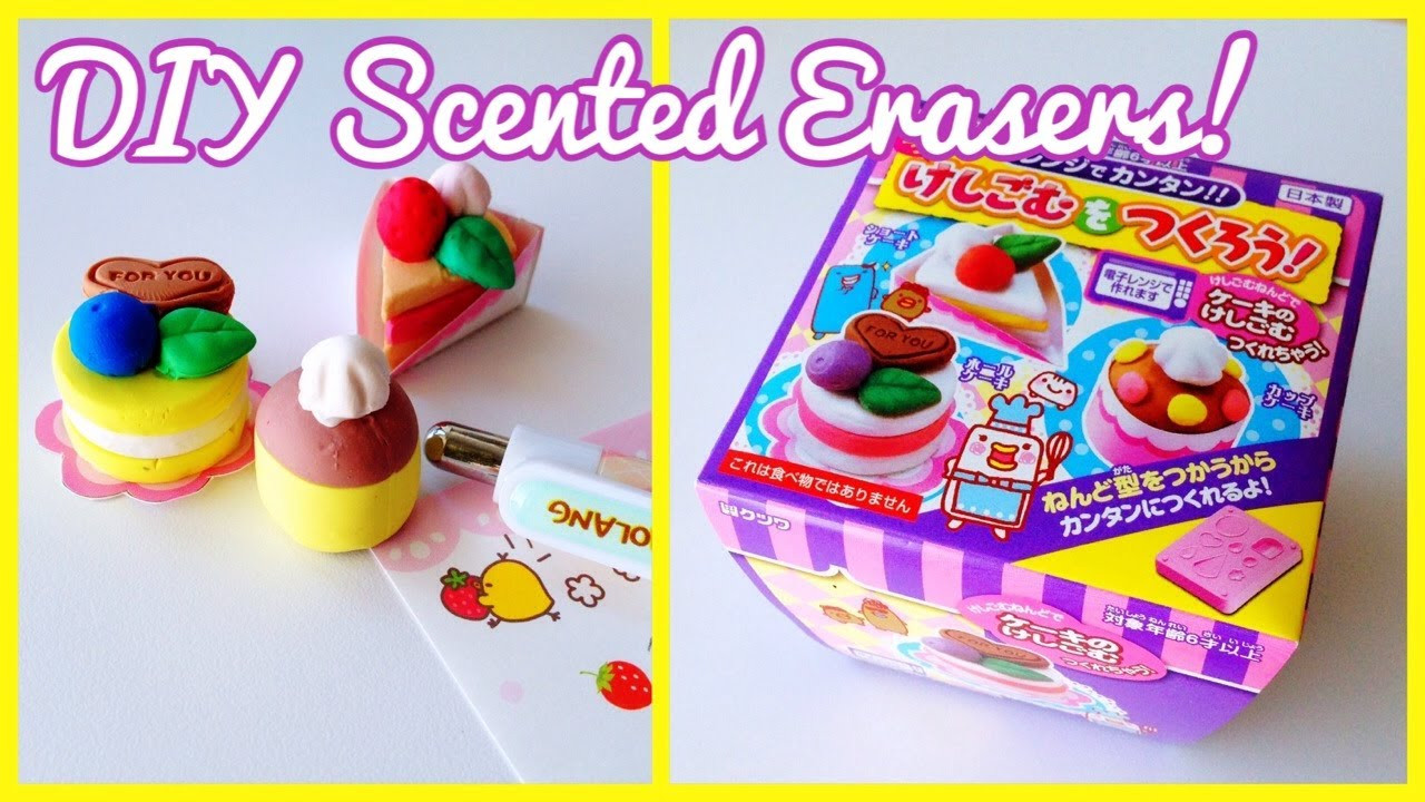 DIY Eraser Kit  DIY Scented Erasers [Kutsuwa Japanese Cake Eraser Kit