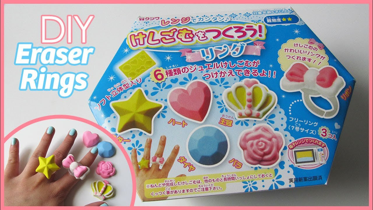 DIY Eraser Kit  DIY Eraser Rings Kutsuwa Japanese Eraser Kit