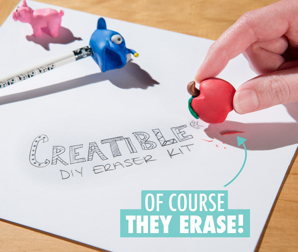 DIY Eraser Kit  Creatibles DIY Eraser Kit Make Your Own Erasers