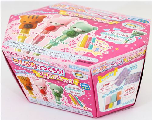 DIY Eraser Kit  DIY eraser making kit for pencil caps kawaii animals DIY