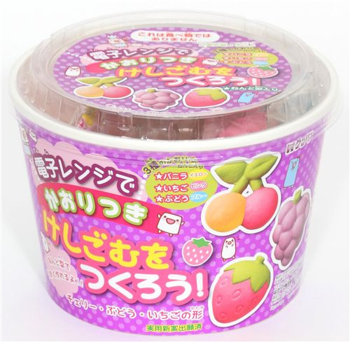 DIY Eraser Kit  cute DIY eraser making kit Fruits from Japan DIY Sets