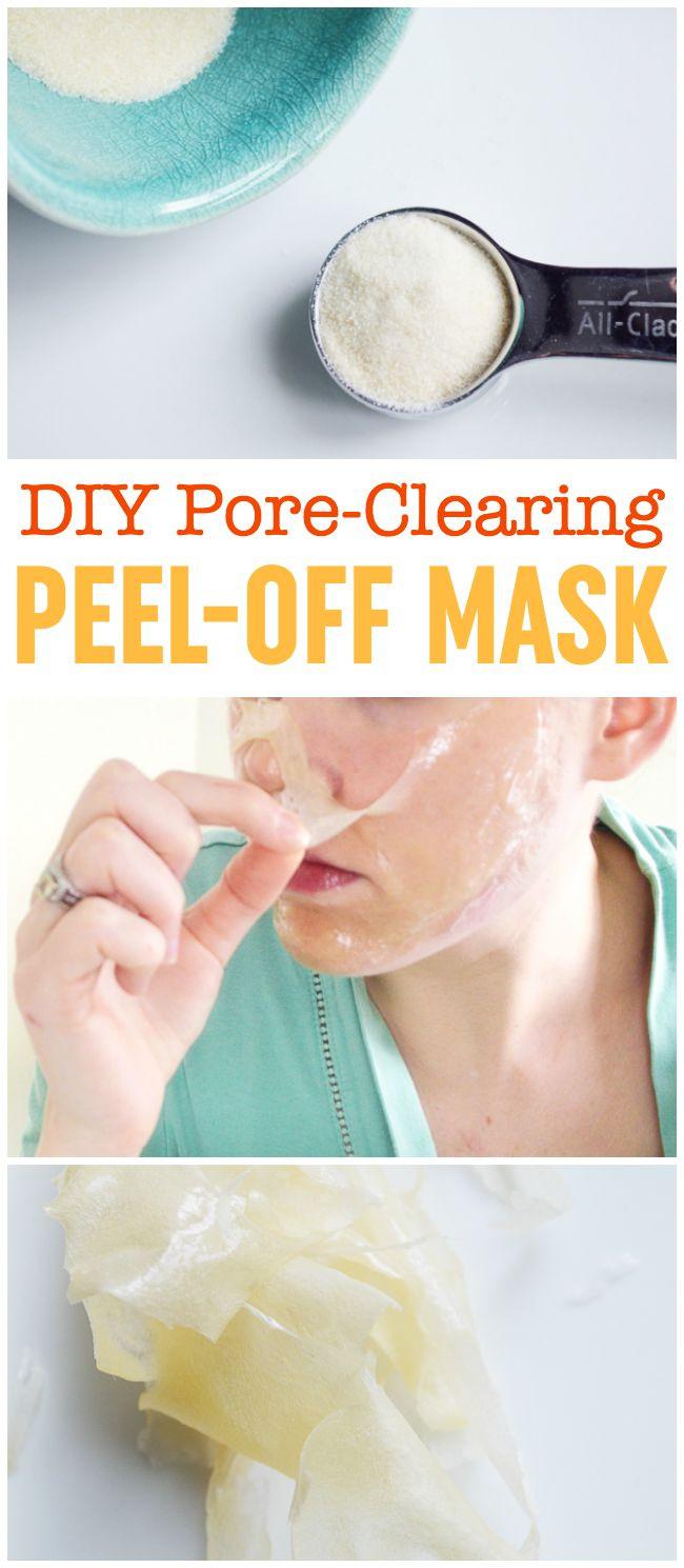 DIY Face Masks For Blackheads  DIY Peel f Mask Pore Cleansing Blackhead Busting Face