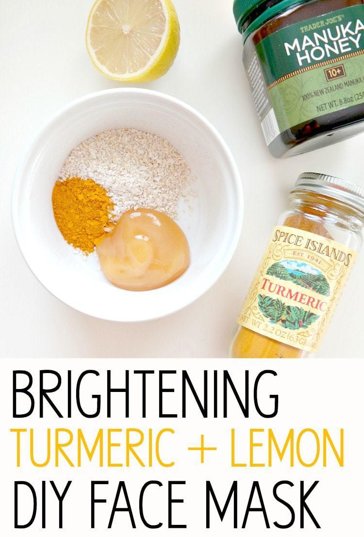 DIY Face Masks For Glowing Skin  Glowing Skin Series Brightening Turmeric Lemon DIY Face