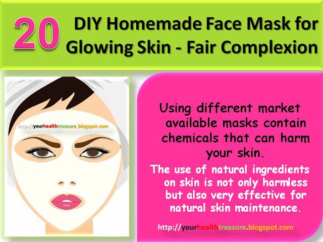 DIY Face Masks For Glowing Skin  20 DIY Homemade Face Mask for Glowing Skin Fair