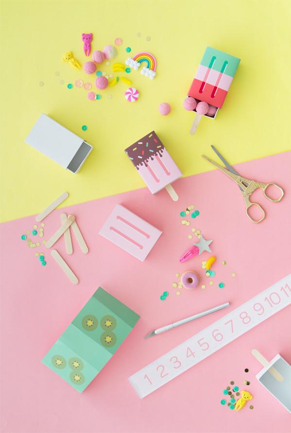 DIY Favor Box  DIY Popsicle Favor Boxes
