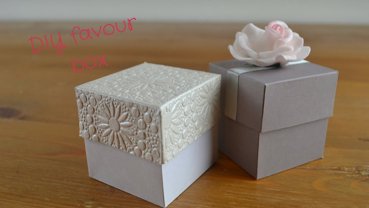 DIY Favor Box  Easy DIY Favour Box How to create your own wedding favour