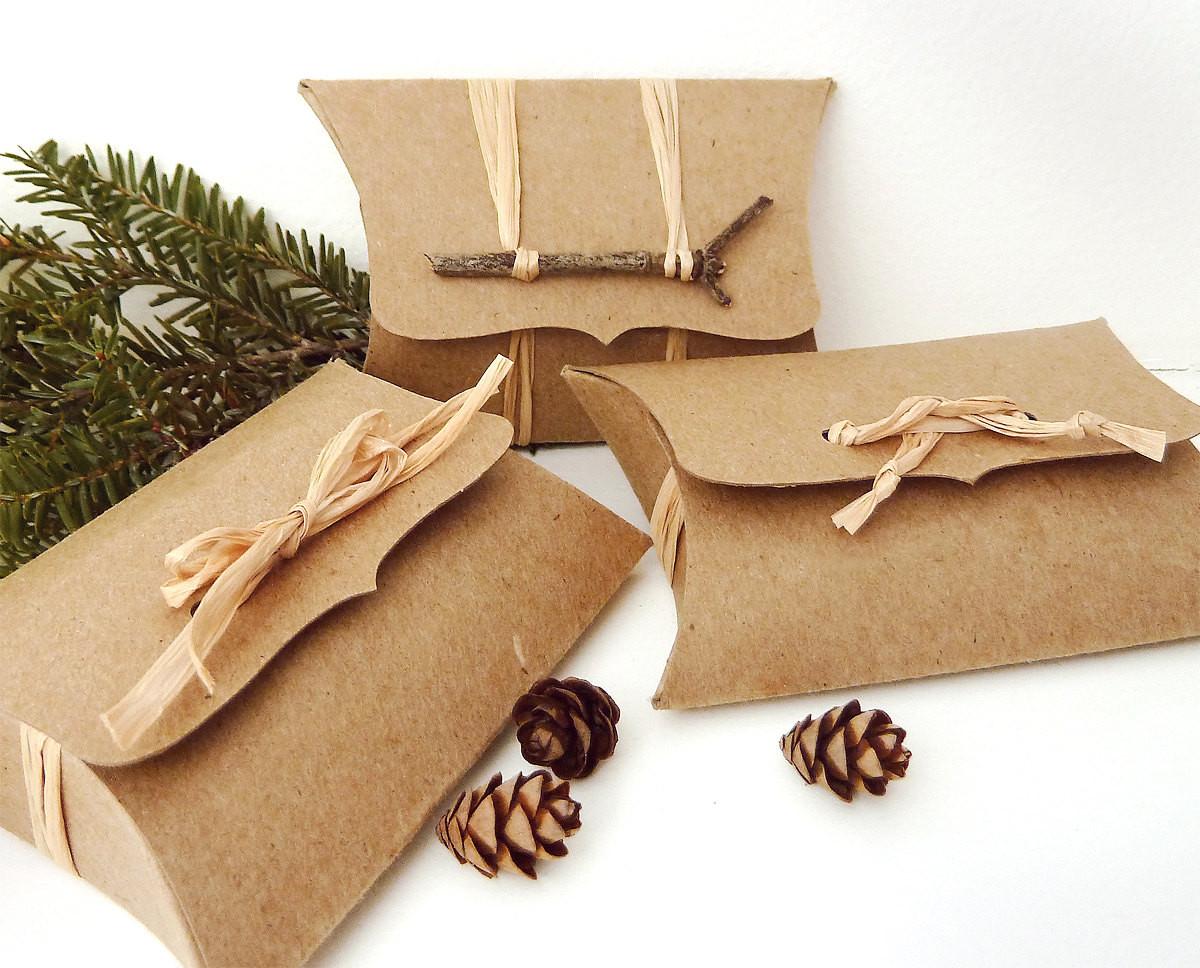 DIY Favor Box  Pillow Boxes 50 Recycled Kraft DIY wedding favor box