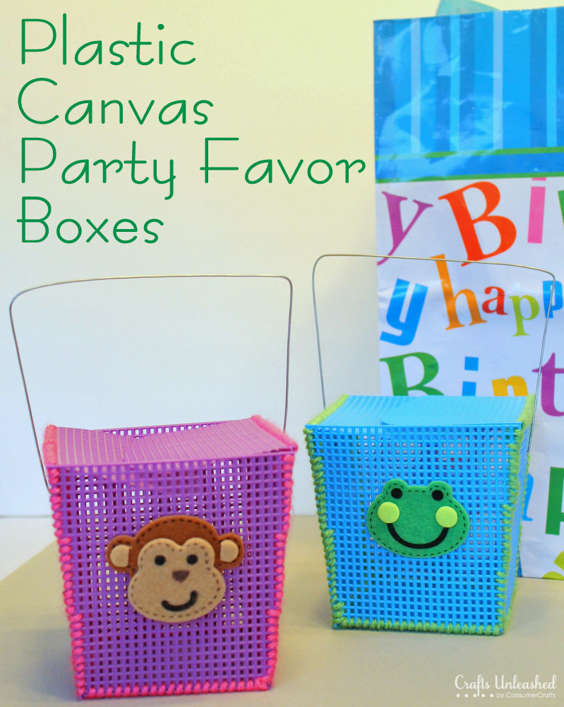 DIY Favor Box  DIY Party Favor Boxes Made With Plastic Canvas