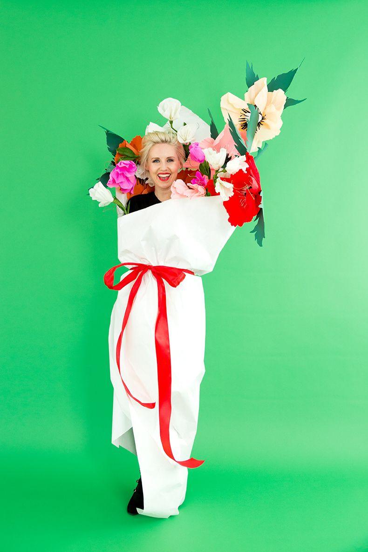 DIY Flower Costume  2 paper Halloween costumes