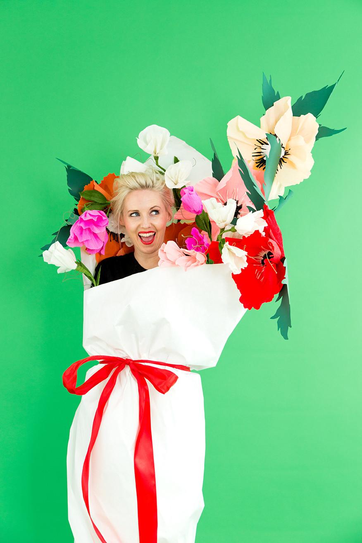 DIY Flower Costume  DIY Halloween Costume Idea Bouquet of Flowers