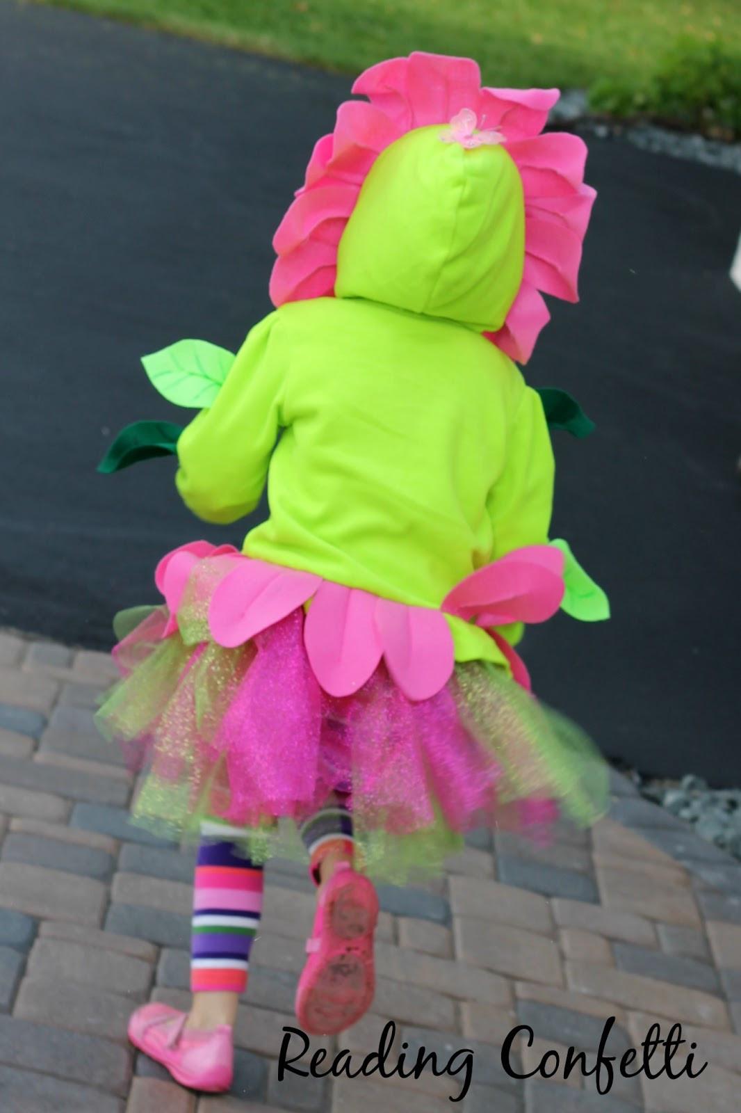 DIY Flower Costume  DIY Flower Costume Reading Confetti