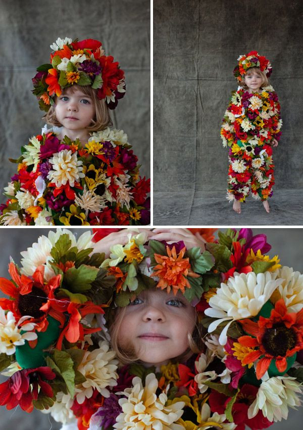 DIY Flower Costume  DIY halloween costume field of flowers I probably would