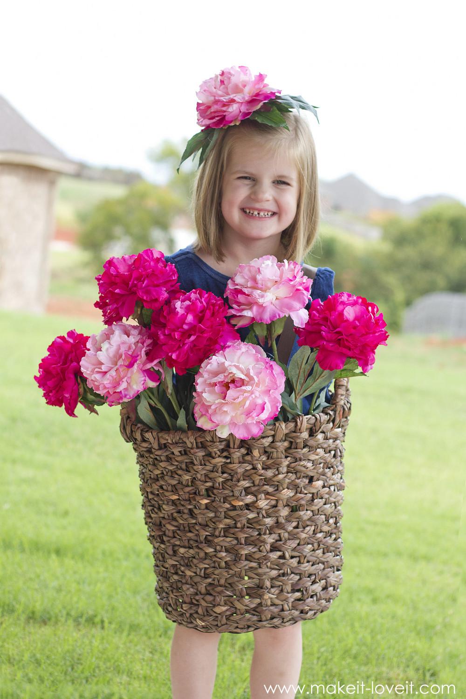 DIY Flower Costume  DIY Flower Basket Costume
