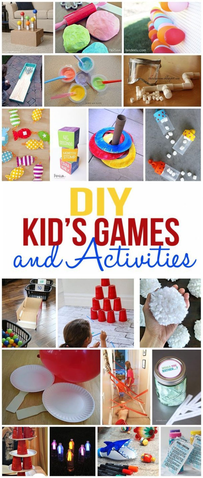 DIY Games For Kids  DIY Kids Games and Activities for Indoors or Outdoors