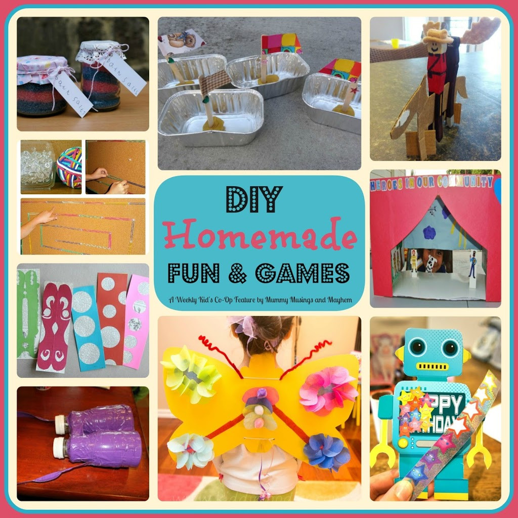 DIY Games For Kids  Weekly Kid s Co Op DIY Homemade Fun & Games The