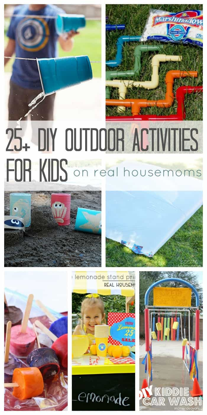 DIY Games For Kids  25 DIY Outdoor Activities for Kids ⋆ Real Housemoms