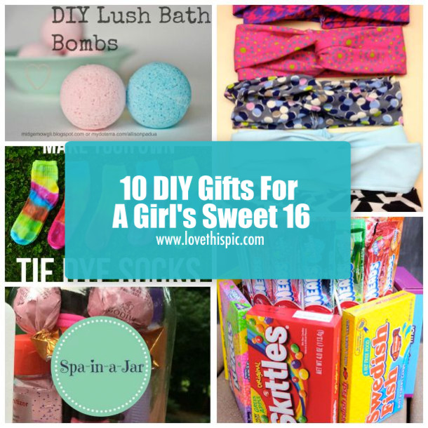 Diy Gift Ideas For Girls  10 DIY Gifts For A Girl s Sweet 16