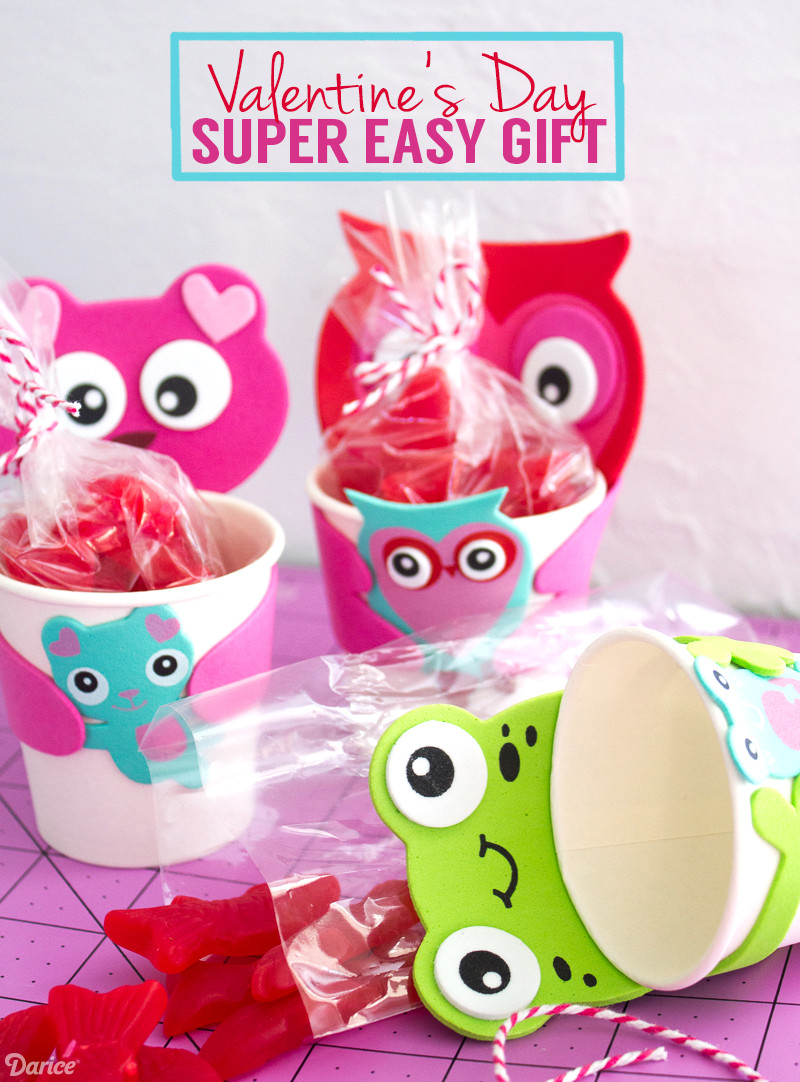 DIY Gifts For Kids  DIY Valentine Gift for Kids Paper Cup Kits Darice