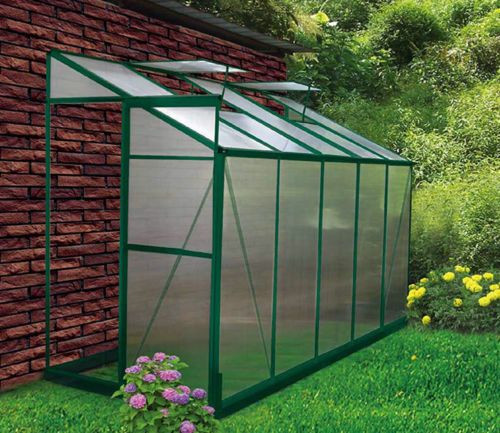 DIY Greenhouses Kits  4x10 Lean To DIY Backyard Hobby Greenhouse Kits for Sale