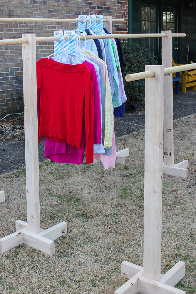 DIY Hanger Rack  DIY Clothes Rack and Free Printable Size Dividers for Yard