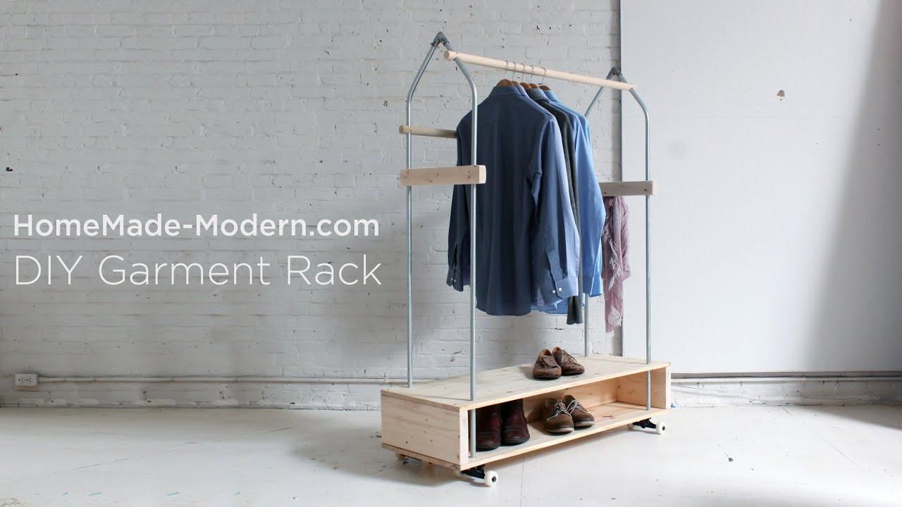 DIY Hanger Rack  DIY Garment Rack EP31