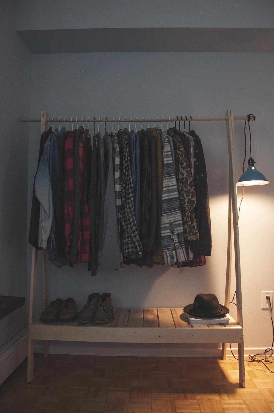 DIY Hanger Rack  ten zero nine DIY Wooden Clothes Rack
